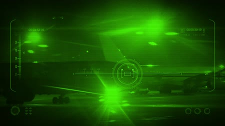 spying : Tracking Plane Night Vision POV