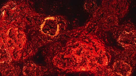 ironworks : Metal Surface Distorting In Heat Looped Background Stock Footage