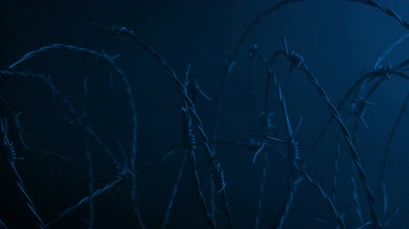 солдат : Barbed Wire And Smoke Near Wall At Night