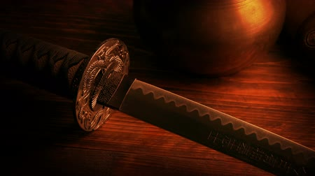 espada : Samurai Sword In Firelight
