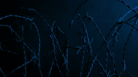 farpado : Passing Barbed Wire By Wall At Night