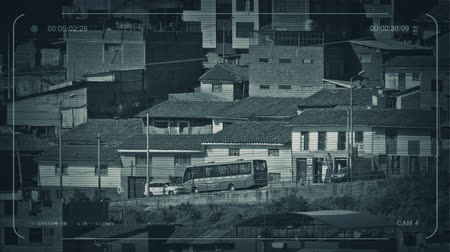 favelas : CCTV Road In Developing Country On Sunny Day Stock Footage