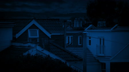 subúrbio : Houses In Residential Area Late At Night