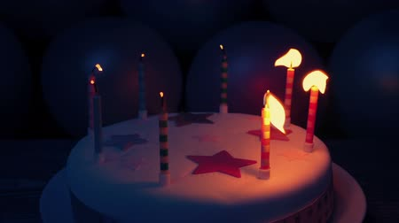 doğum günü : Birthday Candles Blown Out In The Dark