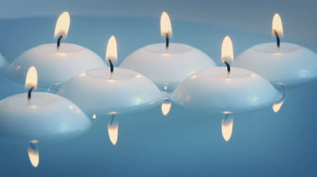 пруд : Floating Candles On The Water Стоковые видеозаписи