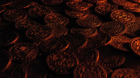 Pile Of Gold Coins Revealed In Firelight