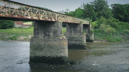 Old Train Bridge Over The River