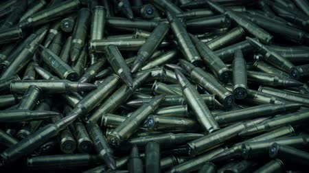 Lots Of Bullets Rotating Shot Stok Video