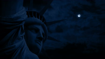 heykel : The Statue Of Liberty At Night