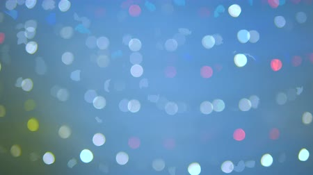 diamond dust : Abstract background blurry glittering light and fractal and grain processed Stock Footage