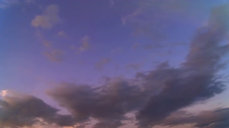 Time-lapse clouds in blue sky. Full HD, 1080p, 24fps.