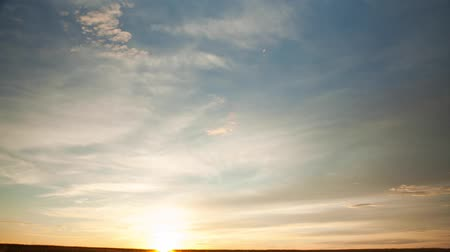 natural world : time lapse nise sunset in the field Stock Footage