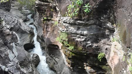 mohás : Amazing Pralie waterfall have similar characteristics Grand Canyon,cascade falls over mossy rocks at kalasin,Thailand