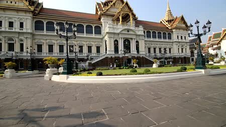 palacio : Video de pan de Bangkok Tailandia Grand Palace Archivo de Video