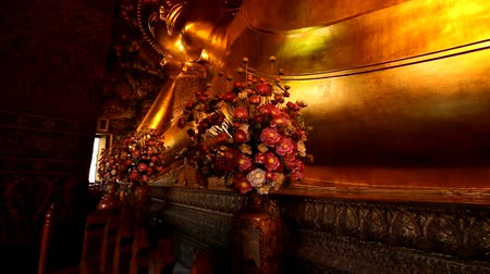 wat pho : Golden Reclining Buddha within Wat Pho is the important in Bangkok, Thailand.
