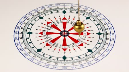 pergament : Astrologer use pendulum and circle for divination