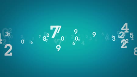 matemática : Streams of random, single digit numbers. This is 1 clip in a set of 3. All clips are available in 4 different color options. All clips loop seamlessly. Vídeos