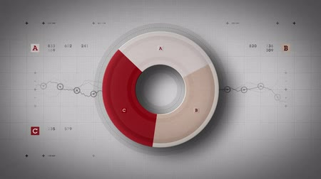 crescimento : A pie chart fluctuates incrementally over time. Available in multiple color options. All clips loop seamlessly.