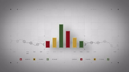 investing : A bar graph fluctuates incrementally over time. Available in multiple color options. All clips loop seamlessly. Stock Footage