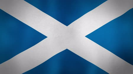 Шотландия : The Scottish national flag blowing in the wind. Seamless loop.