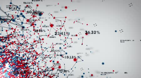 dane : Data and Networks  An abstract representation of the various connection paths within a network. This clip is available in multiple color options and loops seamlessly. Wideo