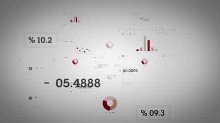 investing : Graphs and Data Red Lite Stock Footage