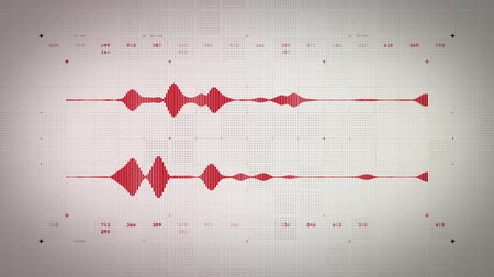 véu : Audio Waveform Stereo Red Lite Stock Footage