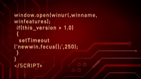 code : Computer Code and Circuits Red Stock Footage