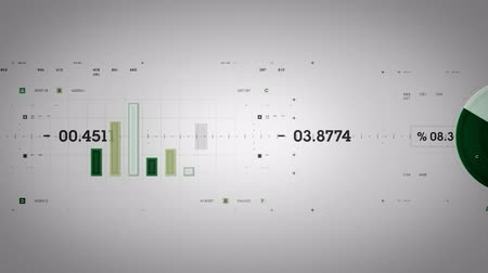 dane : Graphs and Data Tracking Green Lite Wideo