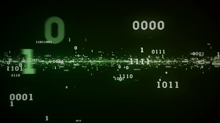 matematica : Binary Bits y Bytes Verde Archivo de Video