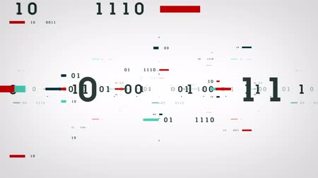 číslo : Binary numbers and data passing through cyberspace. This clip is available in multiple color options and loops seamlessly.