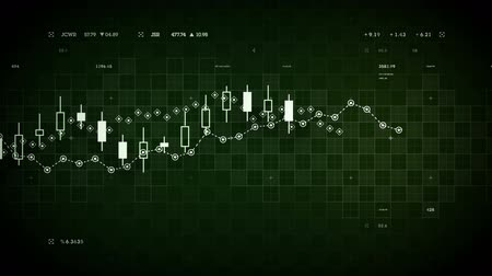 подсвечник : Financial data developing over time. Available in multiple colors. Loops seamlessly. Стоковые видеозаписи
