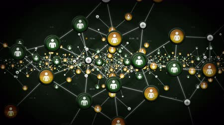 ciberespaço : Networks Of People Green - The data and connections within a network of people. This clip is available in multiple colors and loops seamlessly.