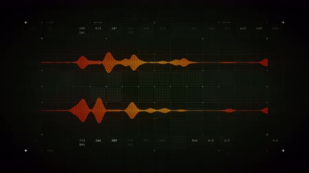 4K Audio Waveform Stereo Black - A visualization of audio waveforms. This clip is available in multiple color options and loops seamlessly. Vídeos