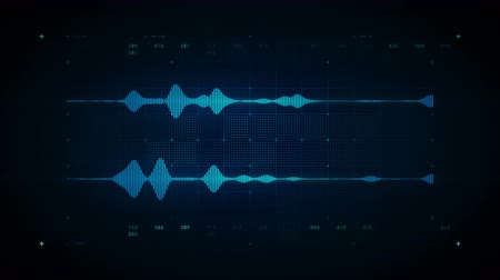 4K Audio Waveform Stereo Blue - A visualization of audio waveforms. This clip is available in multiple color options and loops seamlessly.