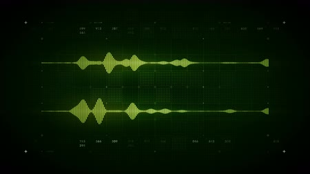 4K Audio Waveform Stereo Green Lite - A visualization of audio waveforms. This clip is available in multiple color options and loops seamlessly.