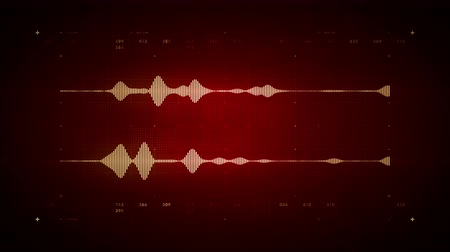 программное обеспечение : 4K Audio Waveform Stereo Red - A visualization of audio waveforms. This clip is available in multiple color options and loops seamlessly. Стоковые видеозаписи