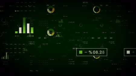 Business Graphs And Data Green - Graphs and other business drifting through cyberspace. Available in multiple color options. All clips loop seamlessly. Vídeos