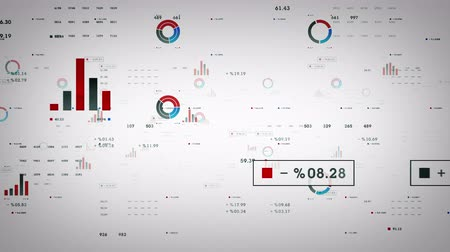 adat : Business Graphs And Data White - Graphs and other business drifting through cyberspace. Available in multiple color options. All clips loop seamlessly. Stock mozgókép