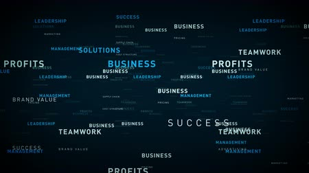 demanda : Keywords for Business Blue - Essential words about business drift through cyberspace. All clips are available in multiple color options and loop seamlessly.