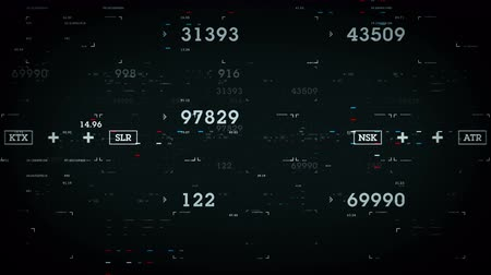Numbers and Data Black - Data and information passing through cyberspace. All clips are available in multiple color options. All clips loop seamlessly. Vídeos