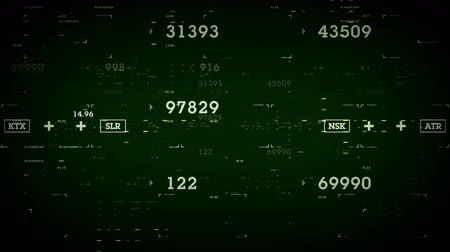 Numbers and Data Green - Data and information passing through cyberspace. All clips are available in multiple color options. All clips loop seamlessly.