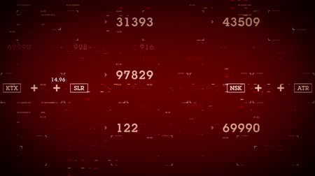 Numbers and Data Red - Data and information passing through cyberspace. All clips are available in multiple color options. All clips loop seamlessly.