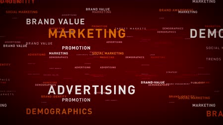 Keywords Business Marketing Red - Important terms about business marketing pass through cyberspace. All clips are available in multiple color options. All clips loop seamlessly. Vídeos