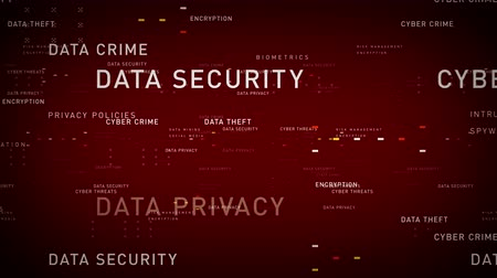 istatistik : Keywords Data Security Red - Important terms about data security pass through cyberspace. All clips are available in multiple color options. All clips loop seamlessly.