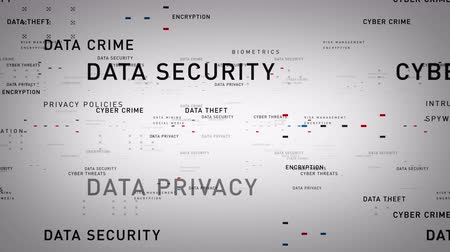 Keywords Data Security - Important terms about data security pass through cyberspace. All clips are available in multiple color options. All clips loop seamlessly. Vídeos
