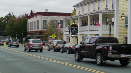 crosswalk : Scenes from the Berkshires in Massachusetts Stock Footage