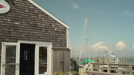 waterkant : Scenes from the North Fork op Long Island Stockvideo