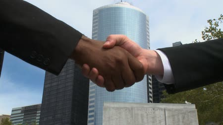 indústria : Business professionals close the deal with a handshake.