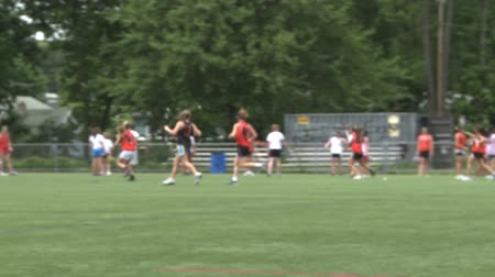 lacrosse : Girls Lacrosse team practicing